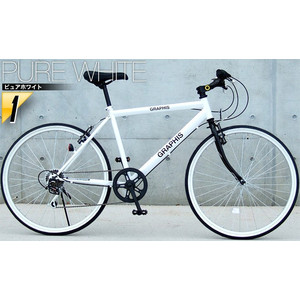 クロスバイク 26インチ 変速 シマノ製6段ギア 全11色 自転車 本体 GRAPHIS GR-001 グラフィス|smart-factory|18