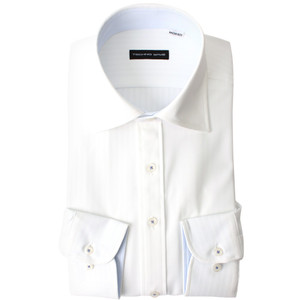 返品OK ニットシャツ ワイシャツ 長袖 ノンアイロン 超形態安定 伸びるノーアイロン 男性 Yシャツ 伸縮性 動きやすい ゴルフ クールビズ カッターシャツ|smartbiz|21