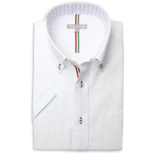 ワイシャツ メンズ 半袖 1枚から自由に選べる 5枚以上で送料無料 Yシャツ クールビズ 半袖シャツ セット ボタンダウン ホワイト ブルー 夏 涼しい おしゃれ|smartbiz|18