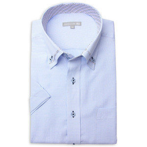 ワイシャツ メンズ 半袖 1枚から自由に選べる 5枚以上で送料無料 Yシャツ クールビズ 半袖シャツ セット ボタンダウン ホワイト ブルー 夏 涼しい おしゃれ|smartbiz|21