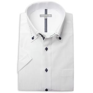 ワイシャツ メンズ 半袖 1枚から自由に選べる 5枚以上で送料無料 Yシャツ クールビズ 半袖シャツ セット ボタンダウン ホワイト ブルー 夏 涼しい おしゃれ|smartbiz|23