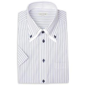 ワイシャツ メンズ 半袖 1枚から自由に選べる 5枚以上で送料無料 Yシャツ クールビズ 半袖シャツ セット ボタンダウン ホワイト ブルー 夏 涼しい おしゃれ|smartbiz|27