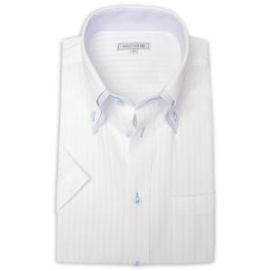ワイシャツ メンズ 半袖 1枚から自由に選べる 5枚以上で送料無料 Yシャツ クールビズ 半袖シャツ セット ボタンダウン ホワイト ブルー 夏 涼しい おしゃれ|smartbiz|28