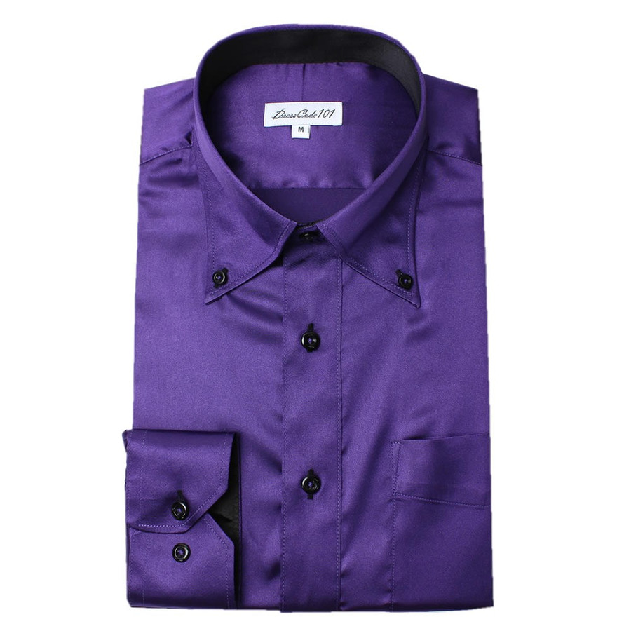 8カラーから選べる サテンシャツ メンズ 紳士用 ワイシャツ ドレスシャツ スリム Yシャツ 白 ホワイト 赤 レッド グレー ブラック 黒|smartbiz|17