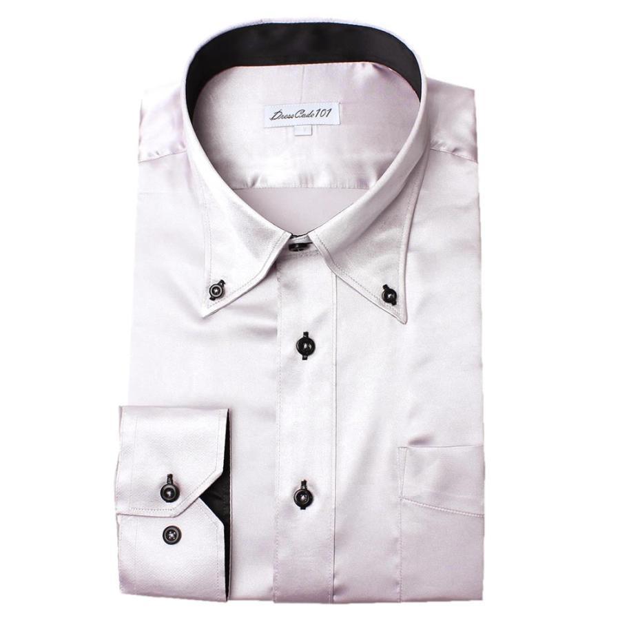 8カラーから選べる サテンシャツ メンズ 紳士用 ワイシャツ ドレスシャツ スリム Yシャツ 白 ホワイト 赤 レッド グレー ブラック 黒|smartbiz|18