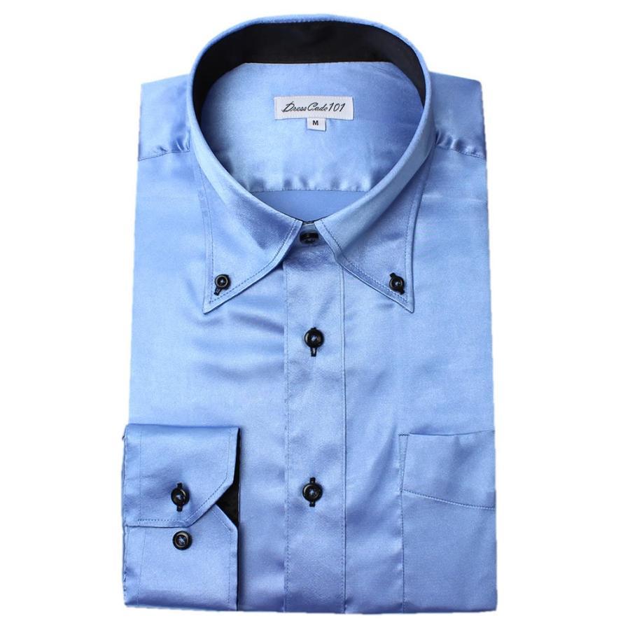 8カラーから選べる サテンシャツ メンズ 紳士用 ワイシャツ ドレスシャツ スリム Yシャツ 白 ホワイト 赤 レッド グレー ブラック 黒|smartbiz|20