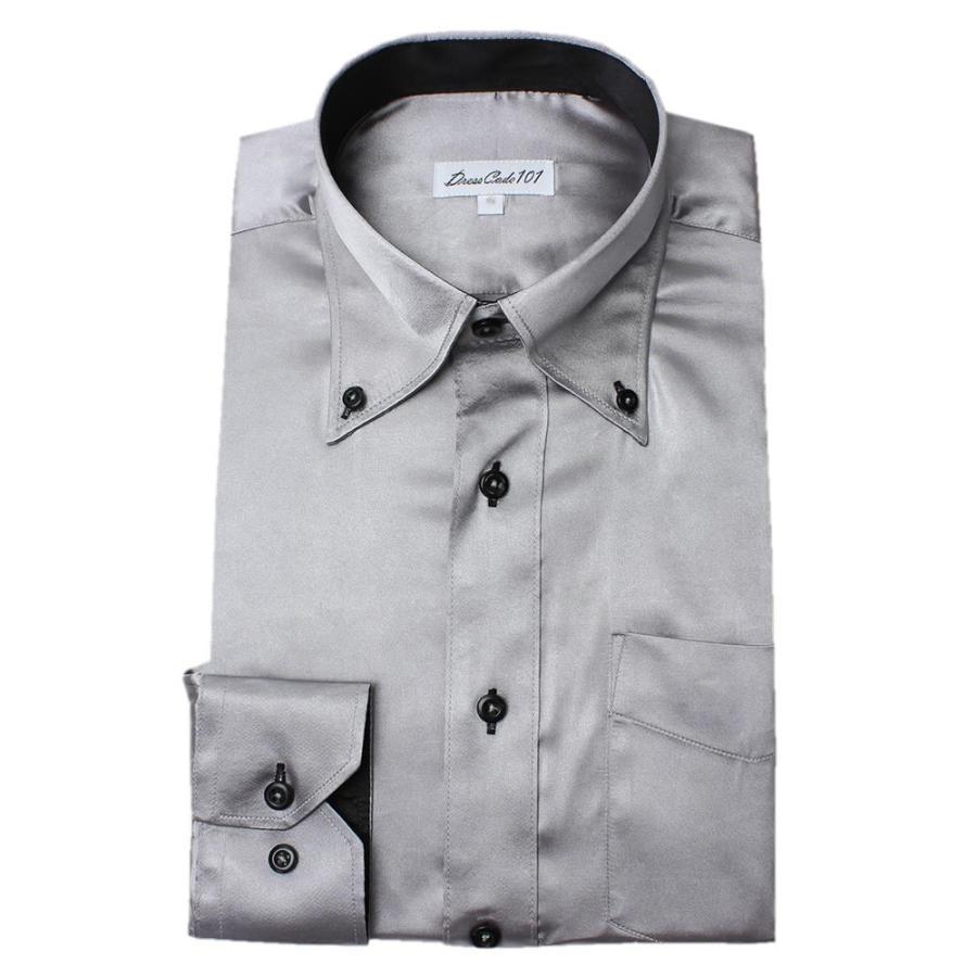 8カラーから選べる サテンシャツ メンズ 紳士用 ワイシャツ ドレスシャツ スリム Yシャツ 白 ホワイト 赤 レッド グレー ブラック 黒|smartbiz|22