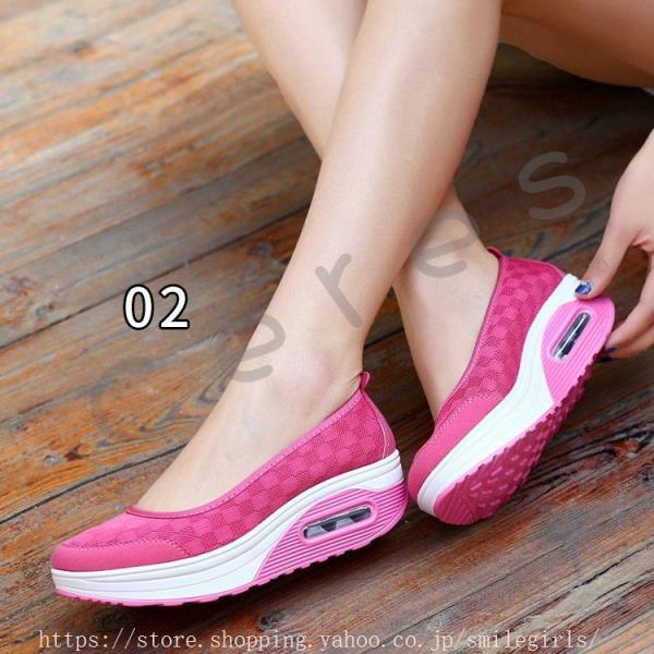 スニーカー レディース ローカット バレエシューズ 靴 運動靴 フラットシューズ メッシュ素材 通気性 クッション性 旅行 街歩き ポイント消化|smilegirls|11
