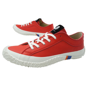 スピングルムーブ SPINGLE MOVE メンズ レディース スニーカー レザースニーカー 本革 革靴 白 赤 ホワイト レッド ローカット 日本製 SPM-106|シューマートワールド