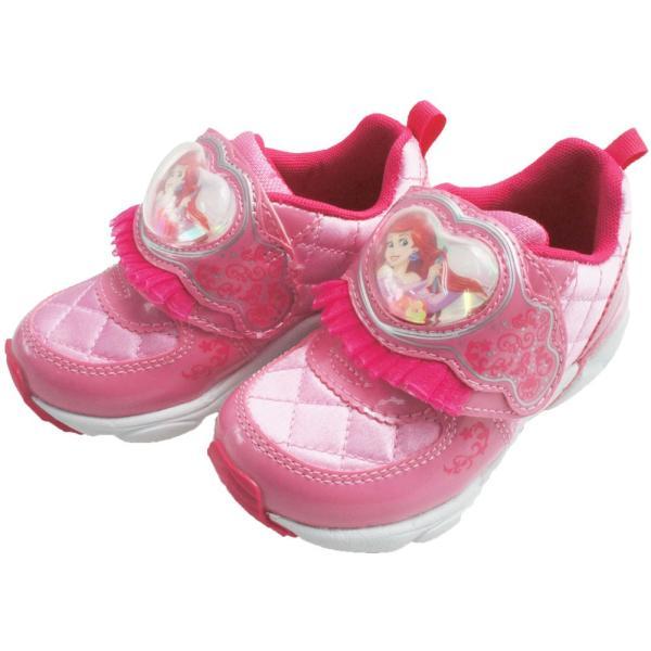 ディズニー Disney プリンセス スニーカー 女の子 子供靴 キッズ ジュニア DN C1225 PRN ベルクロ ローカット シンデレラ ラプンツェル アリエル 白雪姫|smw|06