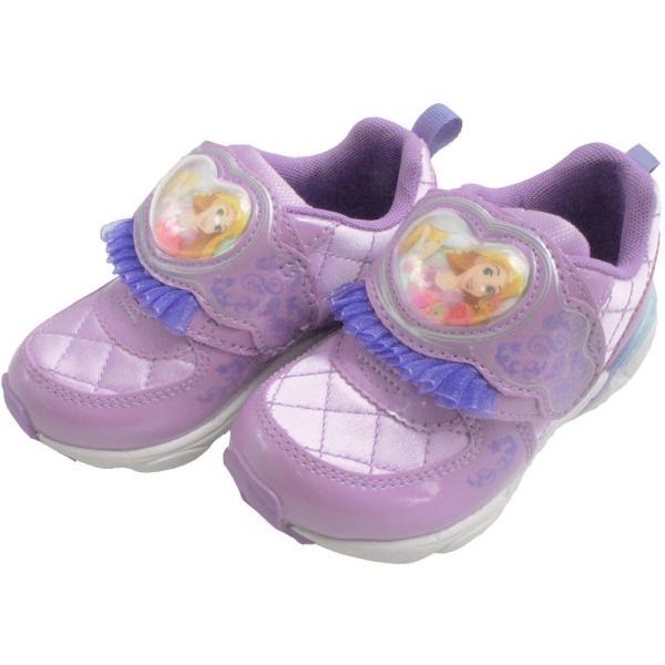 ディズニー Disney プリンセス スニーカー 女の子 子供靴 キッズ ジュニア DN C1225 PRN ベルクロ ローカット シンデレラ ラプンツェル アリエル 白雪姫|smw|05