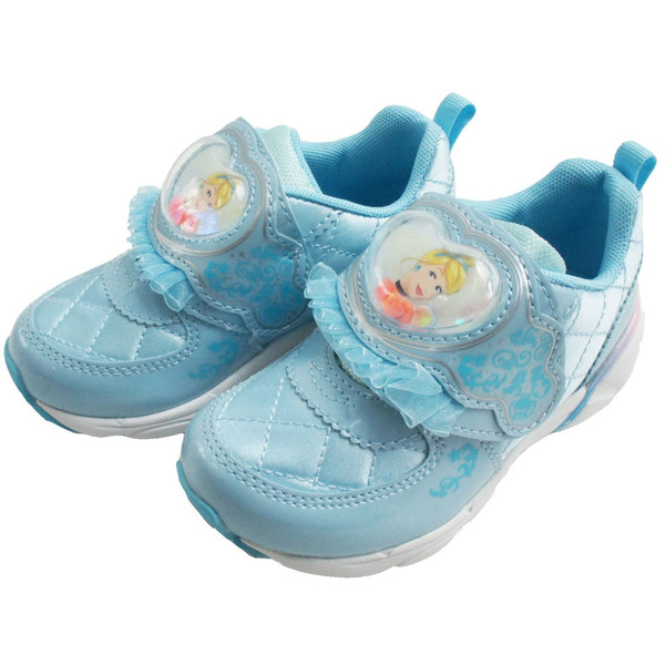 ディズニー Disney プリンセス スニーカー 女の子 子供靴 キッズ ジュニア DN C1225 PRN ベルクロ ローカット シンデレラ ラプンツェル アリエル 白雪姫|smw|04