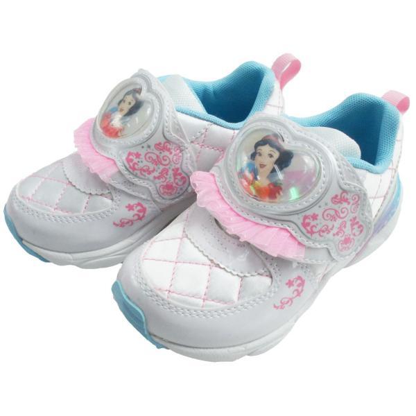 ディズニー Disney プリンセス スニーカー 女の子 子供靴 キッズ ジュニア DN C1225 PRN ベルクロ ローカット シンデレラ ラプンツェル アリエル 白雪姫|smw|07