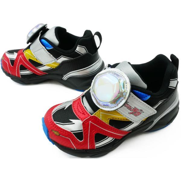 ウルトラマンルーブ スニーカー 男の子 子供靴 キッズ ジュニア UTM145 ベルクロ ローカット 光る靴 LED ULTRAMAN R/B ムーンスター Moonstar|smw|05