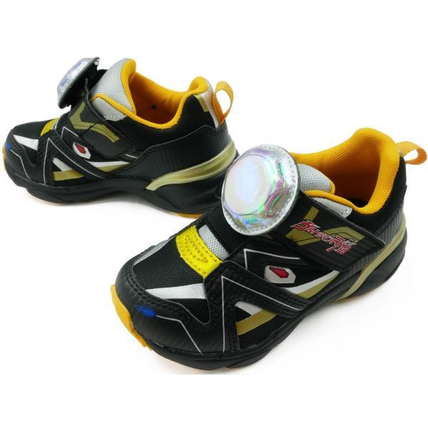 ウルトラマンルーブ スニーカー 男の子 子供靴 キッズ ジュニア UTM145 ベルクロ ローカット 光る靴 LED ULTRAMAN R/B ムーンスター Moonstar|smw|04