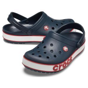 クロックス crocs メンズ レディース サンダル クロックバンド ボールドロゴクロッグ コンフォート ブラック 黒 ネイビー チャコール ホワイト 白 ピンク 206021 シューマートワールド