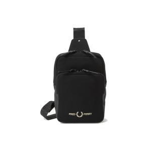フレッドペリー FRED PERRY ピケショルダーバッグ メンズ レディース F9597 斜め掛け 黒 ブラック BLACK 月桂樹|シューマートワールド