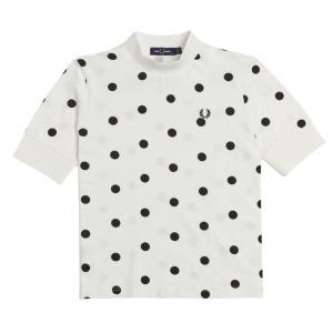 フレッドペリー FRED PERRY ドッドプリントピケTシャツ 半袖 レディース G1141 カットソー トップス インナー 水玉 スポーティ 月桂樹 ローレル|シューマートワールド