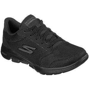 スケッチャーズ Skechers スニーカー レディース GO WALK 5 ウォーキングシューズ 黒 ブラック ネイビー ワイドフィット ローカット 紐靴 ゆったり 15902W シューマートワールド