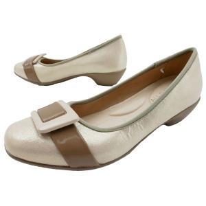 オールデイウォーク 小さいサイズ 撥水 パンプス レディース ALD 057 歩きやすい 痛くない ローヒール ベージュ ラウンドトゥ 太ヒール スモールサイズ 仕事 靴|シューマートワールド