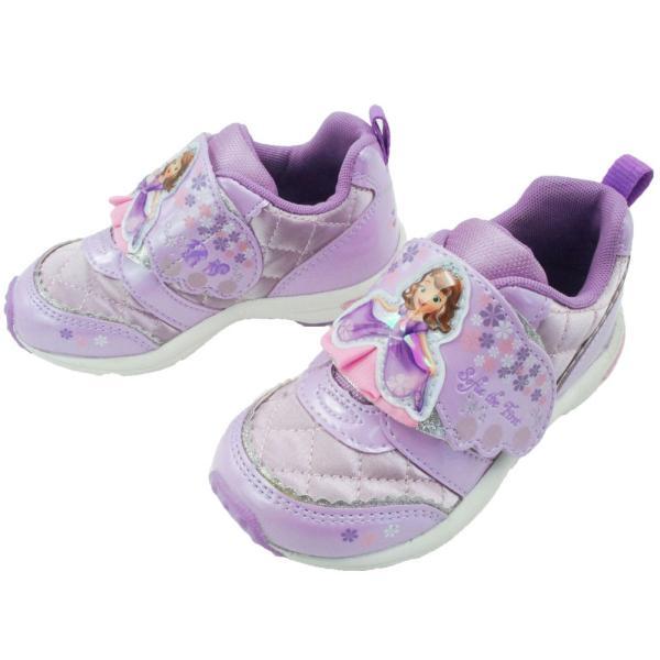 ちいさなプリンセス ソフィア キッズ 女の子 スニーカー 子供靴 DN C1218 パープル ホワイト 通園 ディズニー Disney ムーンスター MoonStar smw 04