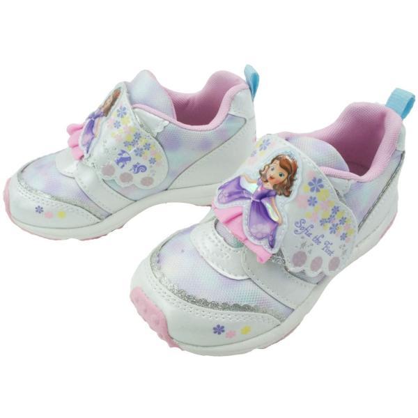 ちいさなプリンセス ソフィア キッズ 女の子 スニーカー 子供靴 DN C1218 パープル ホワイト 通園 ディズニー Disney ムーンスター MoonStar smw 05