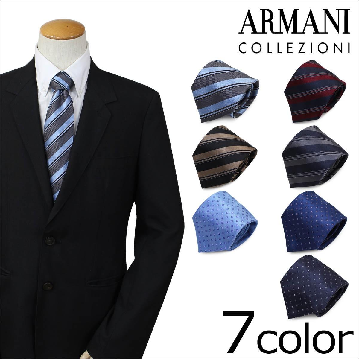 アルマーニ ネクタイ ARMANI COLLEZIONI コレツィオーニ イタリア製 シルク ビジネス 結婚式 メンズ [1/25 追加入荷]