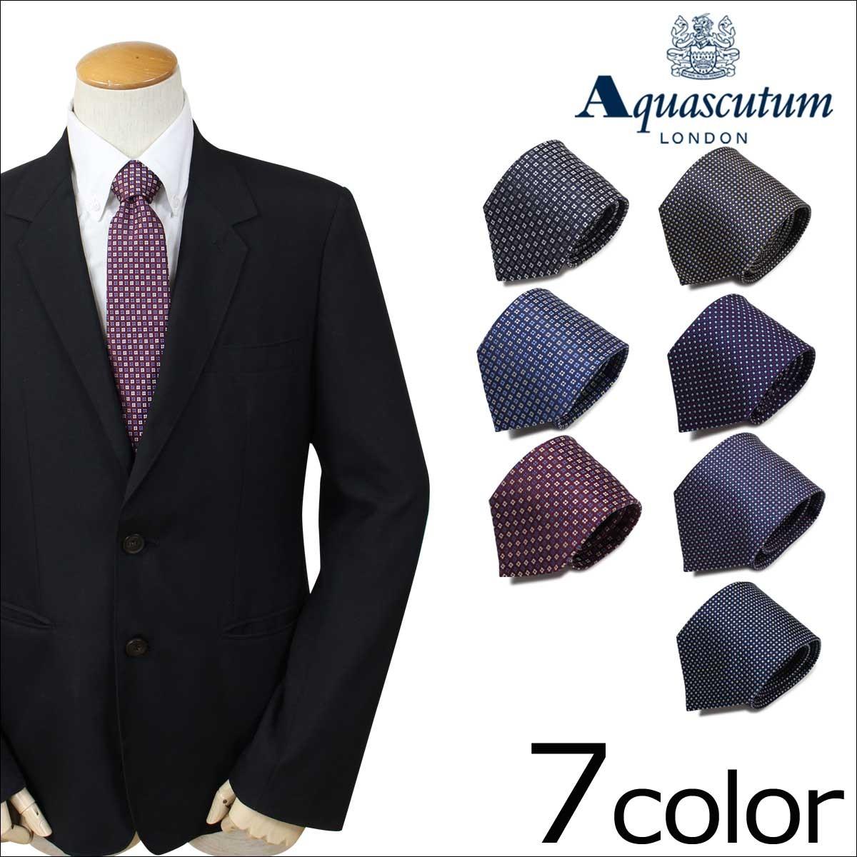 アクアスキュータム AQUASCUTUM ネクタイ イタリア製 シルク ビジネス 結婚式 メンズ [1/25 追加入荷]