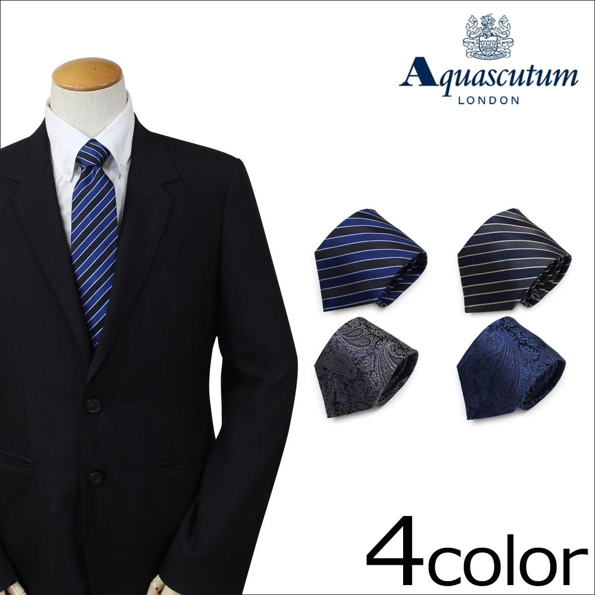 アクアスキュータム AQUASCUTUM ネクタイ イタリア製 シルク ビジネス 結婚式 メンズ [1/16 追加入荷]