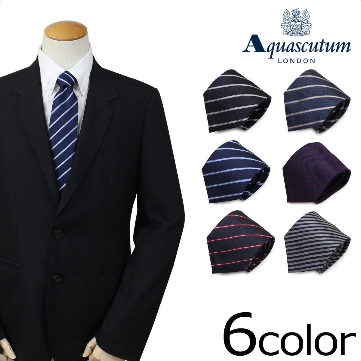 アクアスキュータム AQUASCUTUM ネクタイ イタリア製 シルク ビジネス 結婚式 メンズ [1/9 追加入荷]