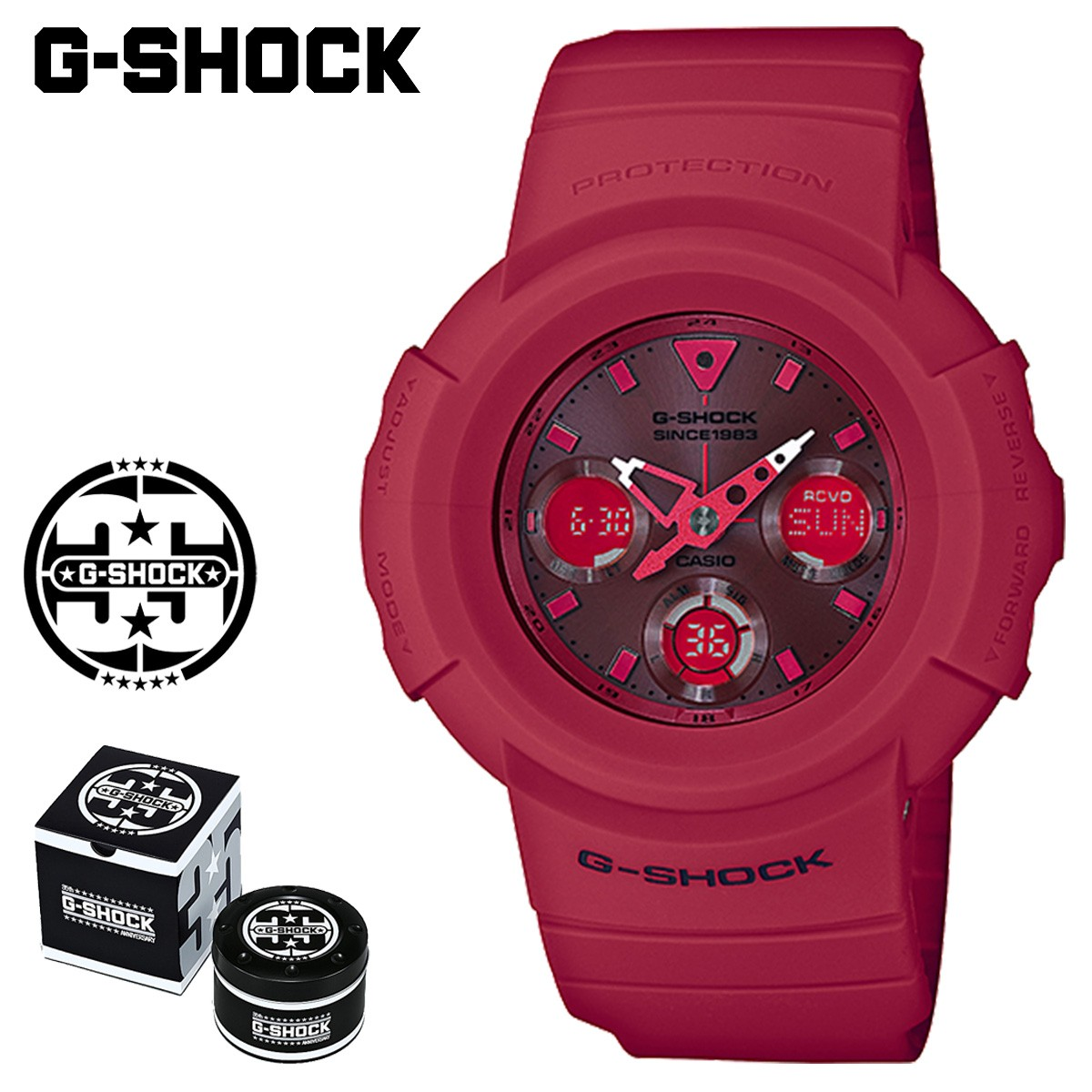 【SOLD OUT】 カシオ CASIO G-SHOCK 腕時計 AWG-M535C-4AJR RED OUT 35周年 ジーショック Gショック G-ショック レッド メンズ レディース [1/19 新入荷]