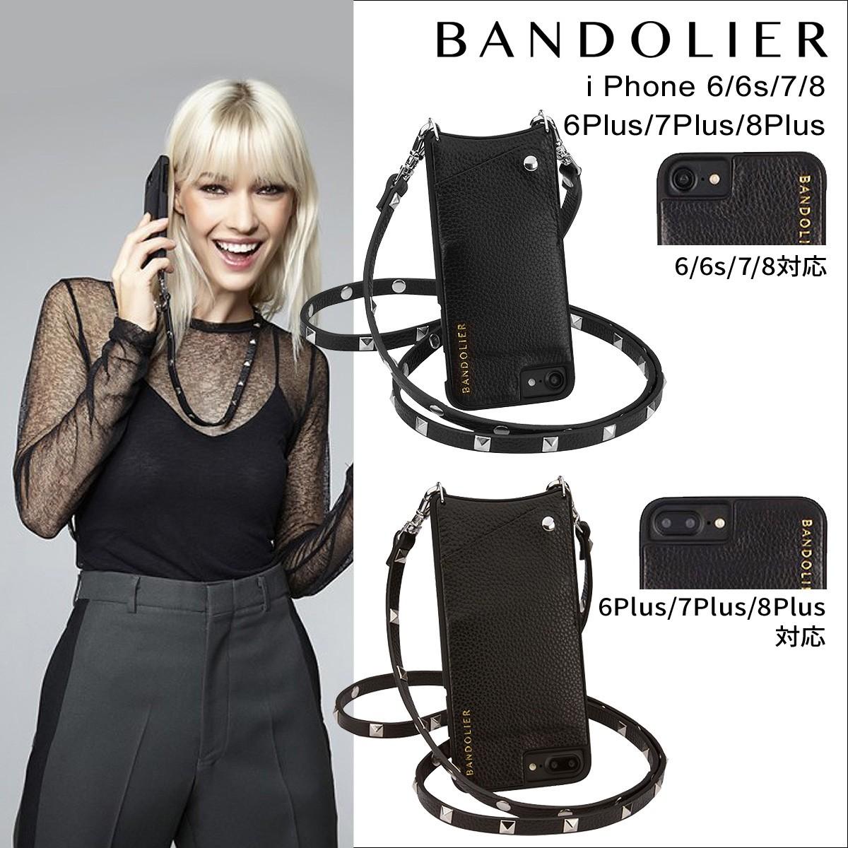 BANDOLIER バンドリヤー iPhone7 7Plus 6s ケース スマホ アイフォン プラス レザー スタッズ メンズ レディース [9/5 再入