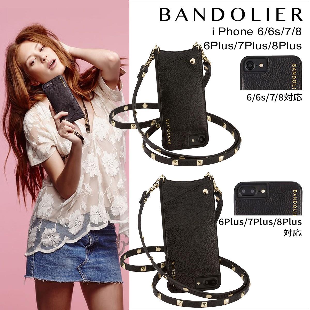 BANDOLIER バンドリヤー iPhone7 7Plus 6s ケース スマホ アイフォン プラス レザー スタッズ メンズ レディース [9/5 再入荷]