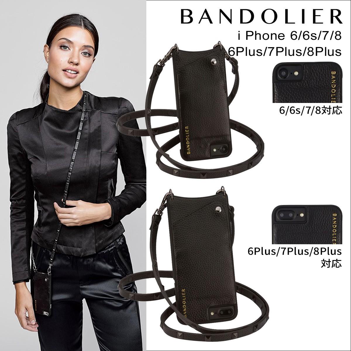 BANDOLIER バンドリヤー iPhone7 7Plus 6s ケース スマホ アイフォン プラス レザー スタッズ メンズ レディース [9/5 新入