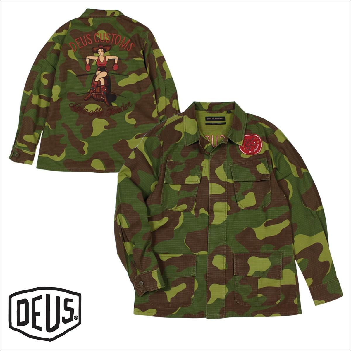 デウスエクスマキナ Deus ex Machina シャツ 長袖 メンズ シャツジャケット TRAVIS CAMO OVERSHIRT カモフラージュ