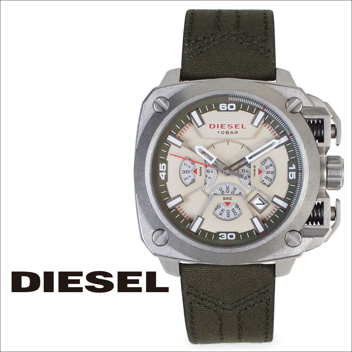 ディーゼル 時計 メンズ DIESEL 腕時計 50mm BAMF DZ7367 オリーブ グリーン