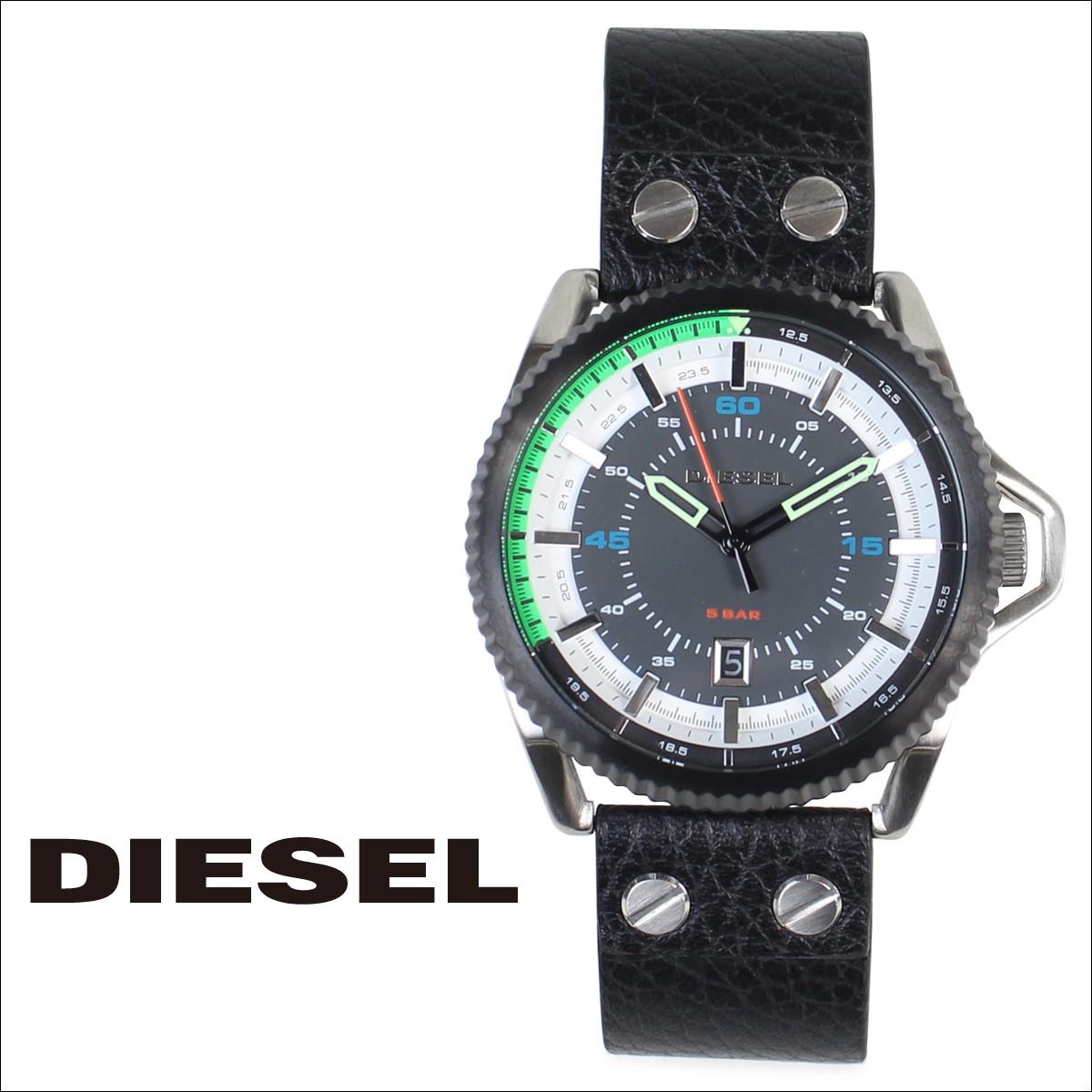 ディーゼル 時計 メンズ DIESEL 腕時計 38mm ROLLCAGE DZ1717 ブラック