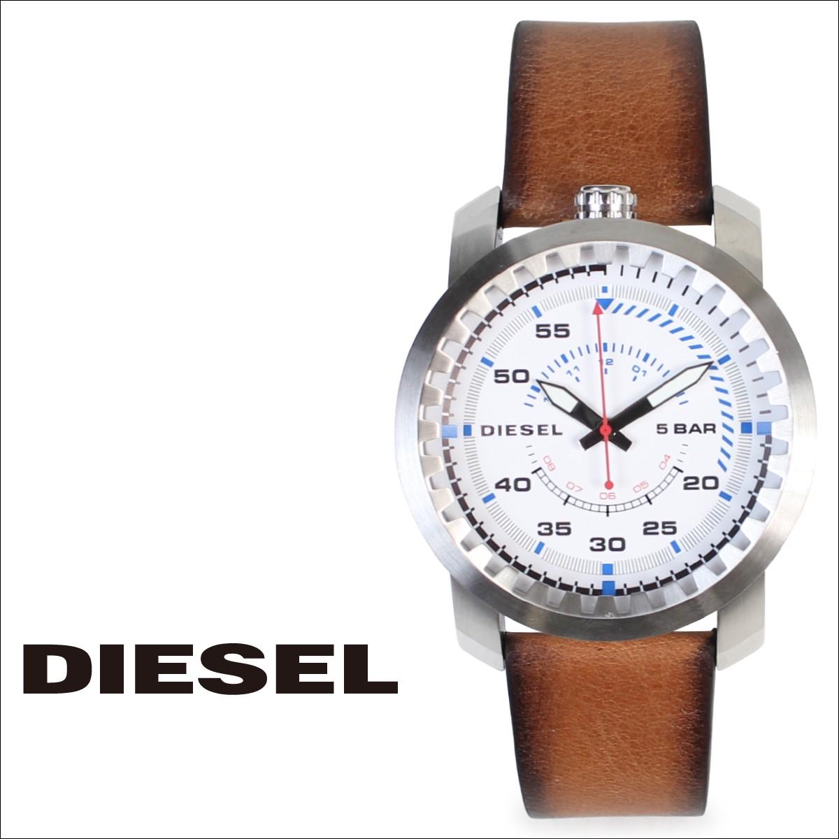 ディーゼル 時計 メンズ DIESEL 腕時計 46mm RIG DZ1749 ブラウン ホワイト