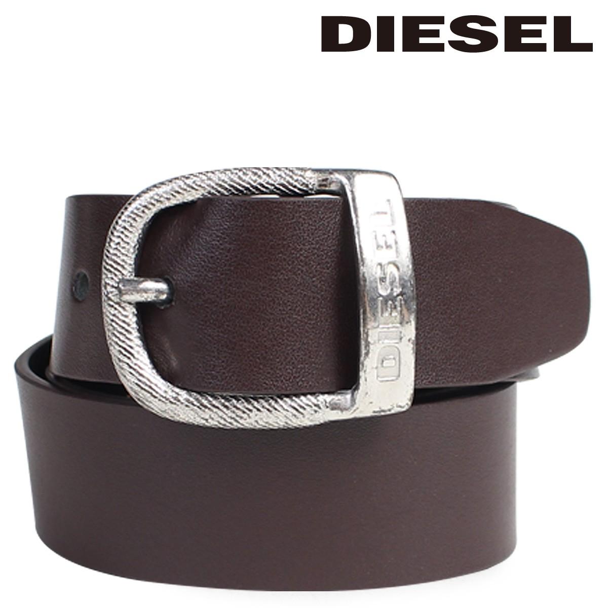 ディーゼル ベルト DIESEL メンズ バックル ロゴ入り カジュアル ヴィンテージ BAWRE X03717 PR250 ブラウン