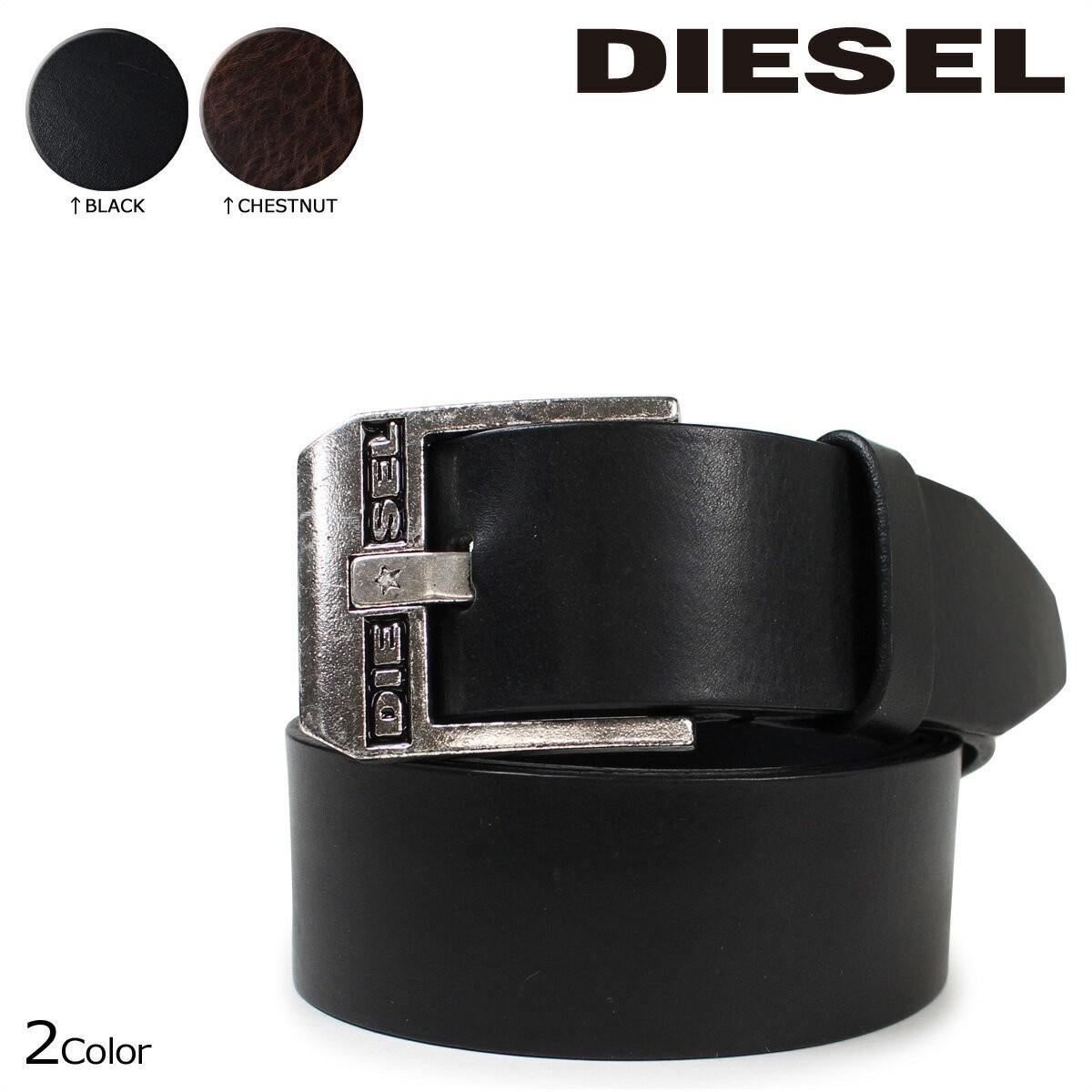 ディーゼル ベルト メンズ DIESEL レザー 本革 ロゴ入り カジュアル BLUESTAR X03728 PR227 ブラック ブラウン [12/26 追加入荷]