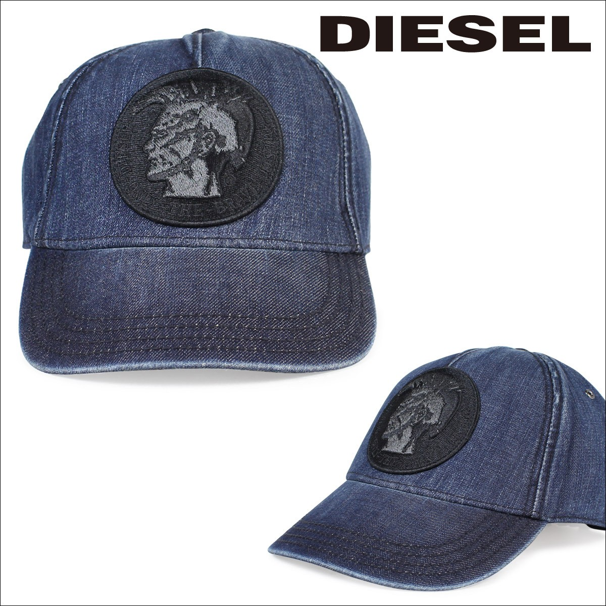 ディーゼル DIESEL 帽子 キャップ スナップバック メンズ レディース CATEEN-D HAT 00SP2P0CAMW 01UNI インディゴブルー