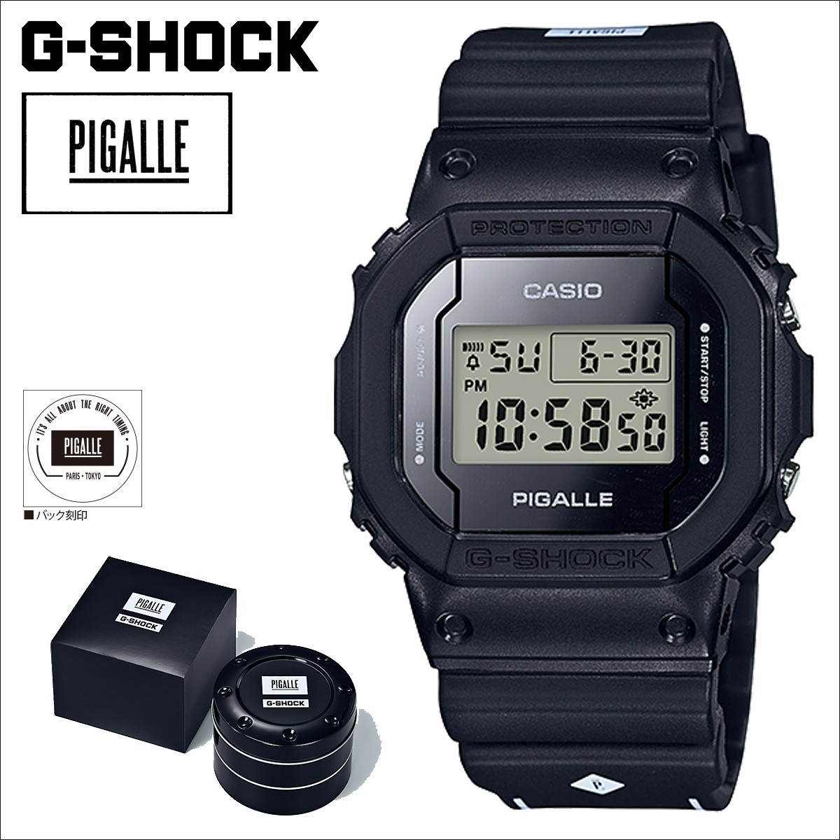 【SOLD OUT】 カシオ CASIO G-SHOCK 腕時計 ピガール DW 5600PGB 1JR PIGALLE ジーショック G-ショック Gショック メンズ ブラック [12/28 再入荷]