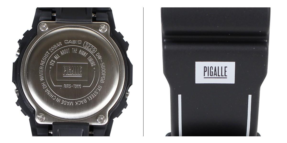 64f077e41fa カシオ CASIO G-SHOCK 腕時計 ピガール DW 5600PGB 1JR PIGALLE ジーショック G-ショック Gショック メンズ  ブラック   Buyee