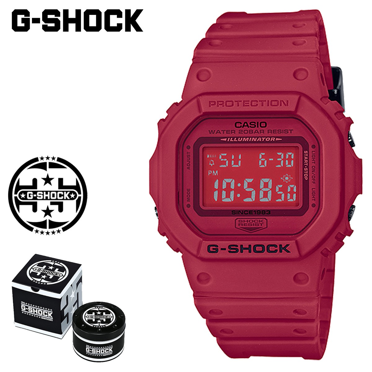 【SOLD OUT】 カシオ CASIO G-SHOCK 腕時計 DW-5635C-4JR RED OUT 35周年 ジーショック Gショック G-ショック レッド メンズ レディース [1/19 新入荷]