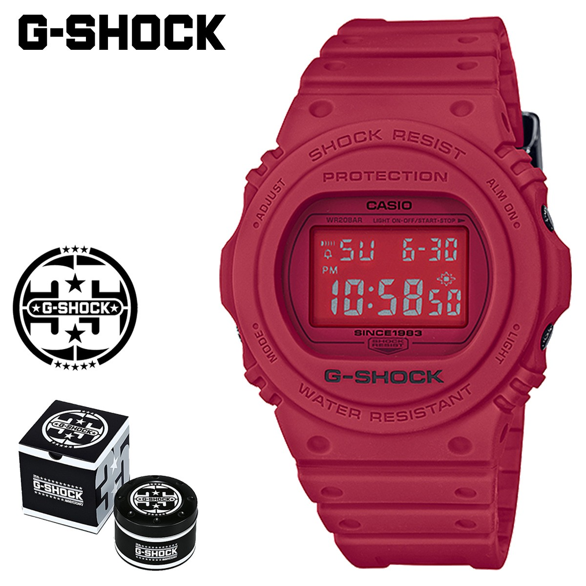 【SOLD OUT】 カシオ CASIO G-SHOCK 腕時計 DW-5735C-4JR RED OUT 35周年 ジーショック Gショック G-ショック レッド メンズ レディース [1/19 新入荷]