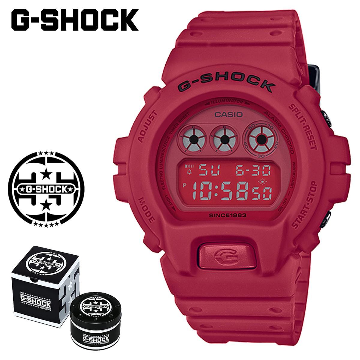 カシオ CASIO G-SHOCK 腕時計 DW-6935C-4JR RED OUT 35周年 ジーショック Gショック G-ショック レッド メンズ レディース [1/19 新入荷]