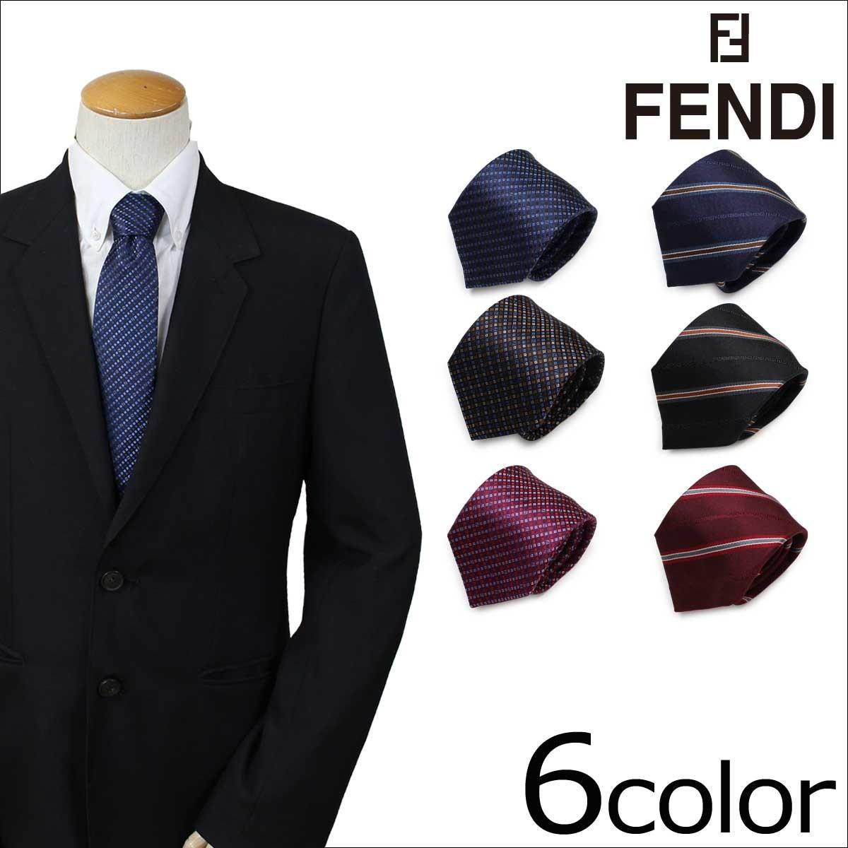 フェンディ FENDI ネクタイ シルク イタリア製 ビジネス 結婚式 メンズ [1/16 追加入荷]