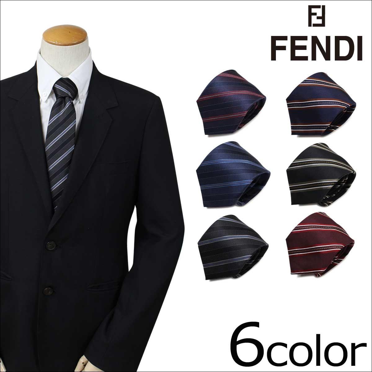 フェンディ FENDI ネクタイ シルク イタリア製 ビジネス 結婚式 メンズ [1/25 追加入荷]