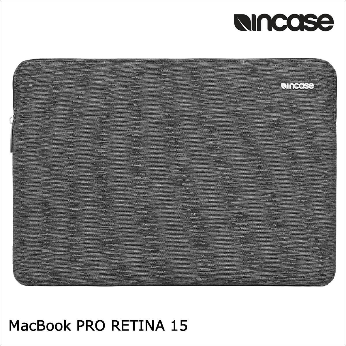 INCASE インケース バッグ パソコンバッグ PCケース 15インチ SLIM SLEEVE PRO FOR MACBOOK RETINA 15 CL60682 レディース メンズ ブラック [1/17 再入荷]