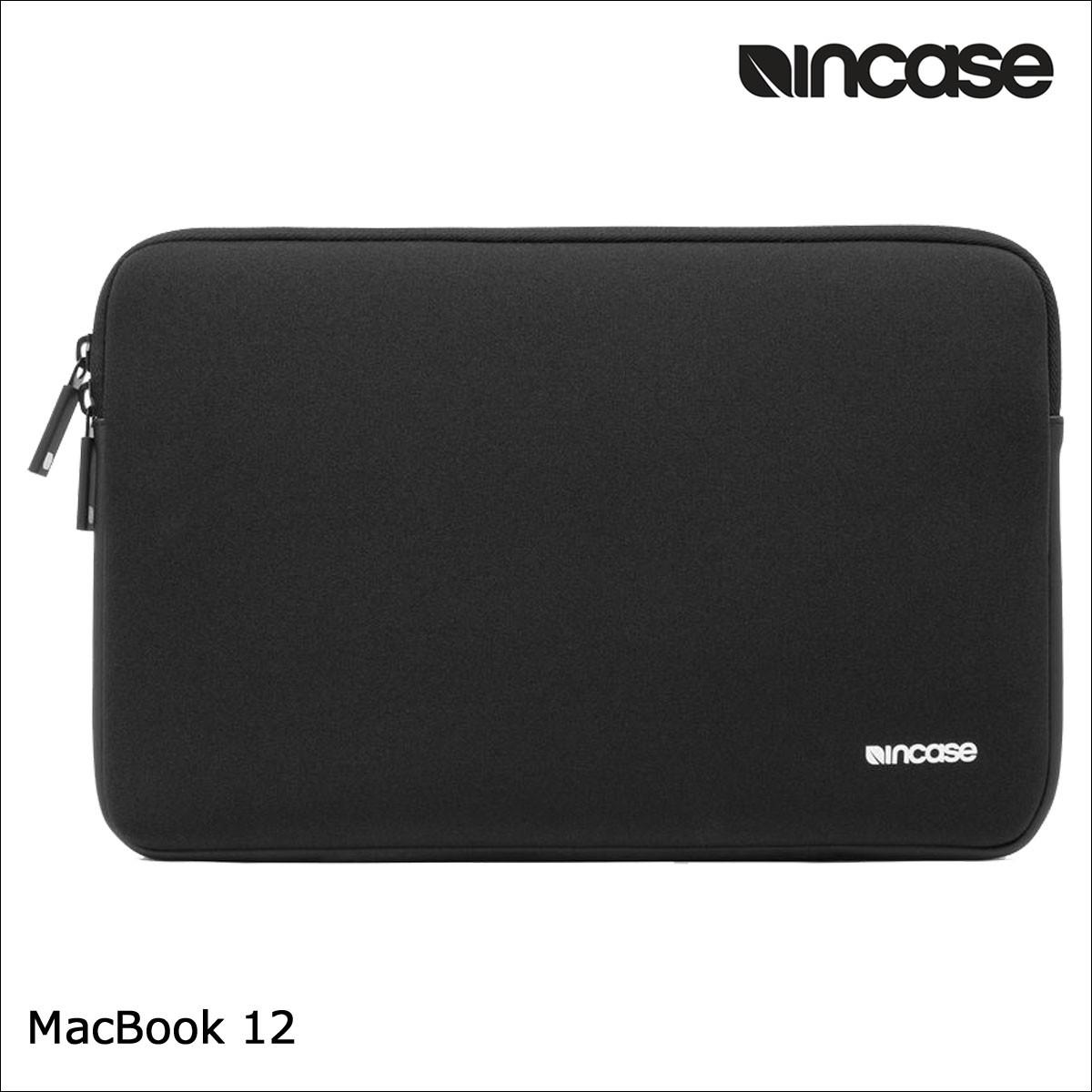 INCASE インケース バッグ パソコンバッグ PCケース 12インチ NEOPRENE CLASSIC SLEEVE FOR MACBOOK 12 CL60663 レディース メンズ ブラック